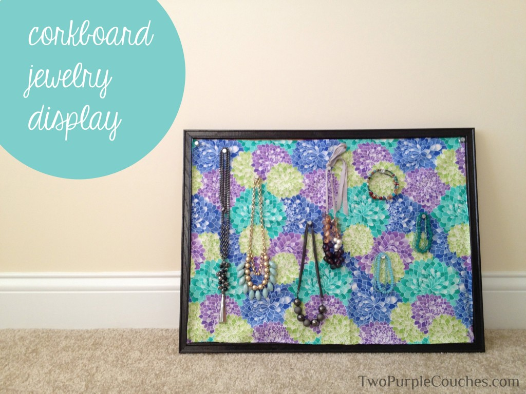 Cork Board Jewelry Display