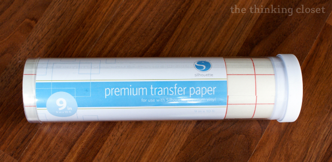 Silhouette transfer paper!