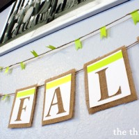 """""""Happy Fall"""" Banner...one stop on the journey of the Choose Your Own Adventure Fall House Tour at thinkingcloset.com"""
