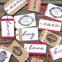 Handmade Gift Tags with Silhouette Stamping Material & Giveaway!