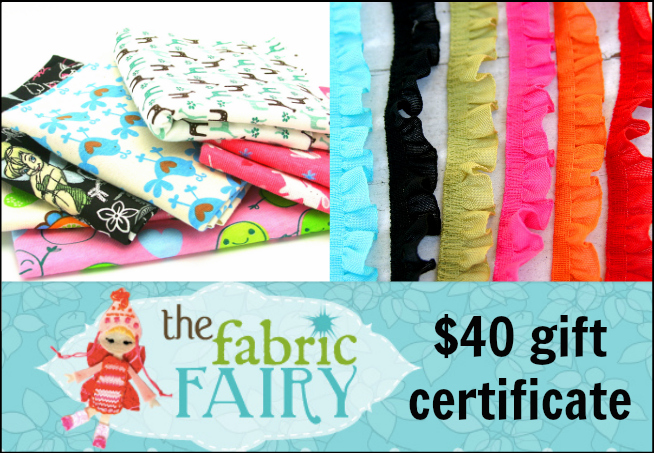 $40 Gift Certificate to The Fabric Fairy - - 1 of 6 prizes in The Thinking Closet's Blogiversary Giveaway!  9/6 - 9/11