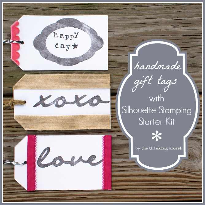 Handmade Gift Tags with Silhouette Stamping Starter Kit by The Thinking Closet