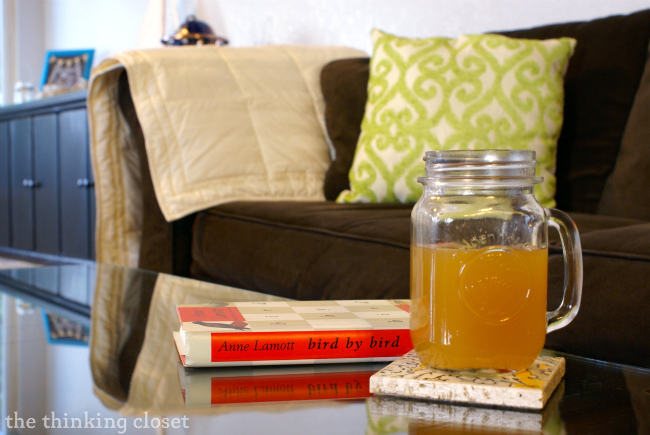 "Mulled Cider, made even more ""festive"" with mulling spices.  Full recipe at thinkingcloset.com"