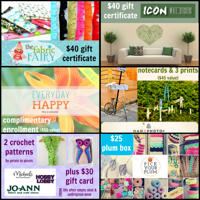 Blogiversary Giveaway Prizes!