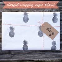 Stamped Wrapping Paper Tutorial & Silhouette Winner!