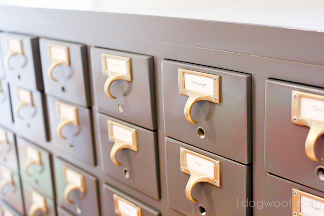 Upcycled Card Catalog by One Dog Woof