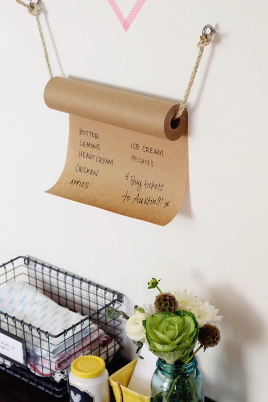 DIY Kraft Paper Grocery List by At Home In Love