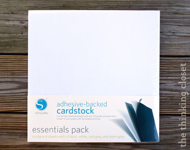 Adhesive Backed Cardstock via thinkingcloset.com