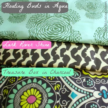 Amy Butler Fabric Selections for my Origami Bag via thinkingcloset.com