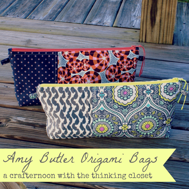 Amy Butler Origami Bags | Tips, Tricks, and Inspiration from thinkingcloset.com