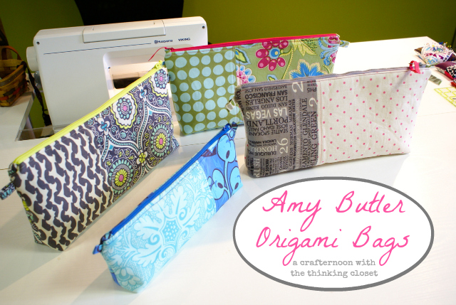 Amy Butler Origami Bags | A Crafternoon with thinkingcloset.com