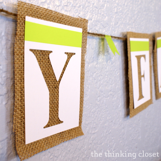 """Happy Fall"" Banner Tutorial via thinkingcloset.com"