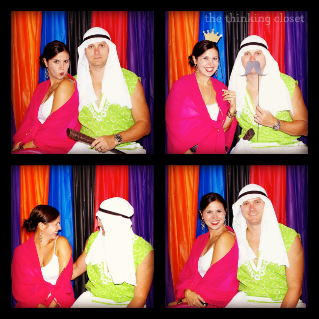 DIY Photo Booth Backdrop & Props = Instant Entertainment at your next party.  via thinkingcloset.com