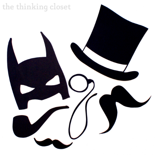 diy photo booth props free silhouette cut file the thinking closet