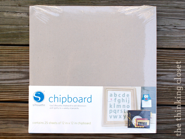 Silhouette Chipboard via thinkingcloset.com