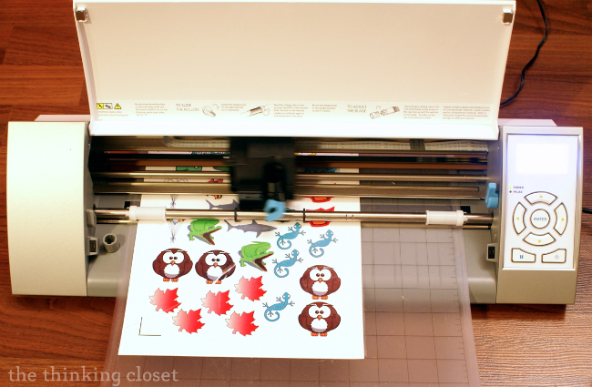 Cutting out printed tattoos with a Silhouette Cameo via thinkingcloset.com
