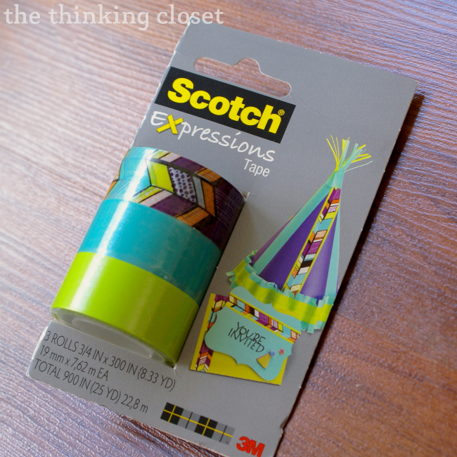 Scotch Expressions Tape!  Great for crafts of all kinds.  #ExpressionsTape #ad