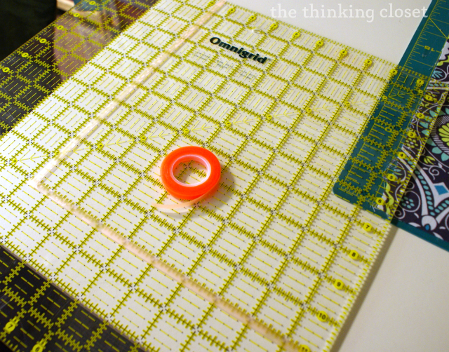 Glow-Line Tape in action!  A time-saver.  via thinkingcloset.com