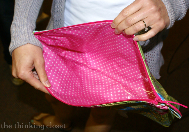 Laminated Fabric on an Origami Bag via thinkingcloset.com