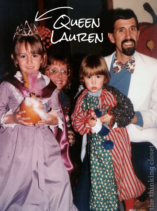 Flashback!  Lauren and family on Halloween...the early days.