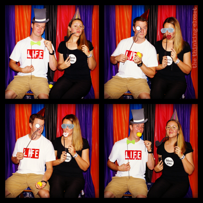 Punny Halloween Costumes captured in the Photo Booth! via thinkingcloset.com