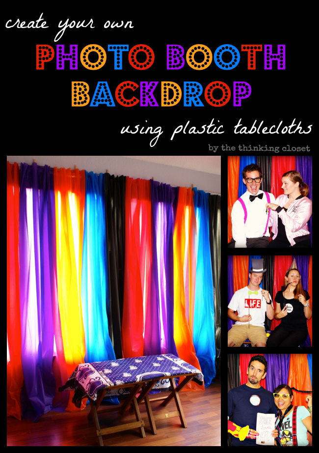 Diy photo booth props free silhouette cut file the thinking closet create your own photo booth backdrop using plastic tablecloths from the dollar store shockingly easy solutioingenieria Images