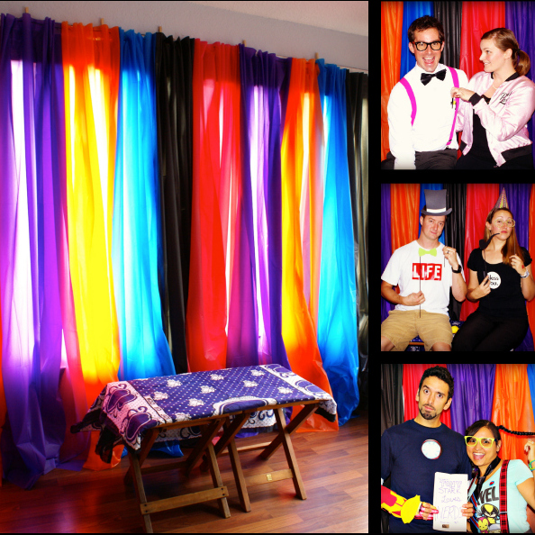 diy photo booth backdrop for 10 the thinking closet