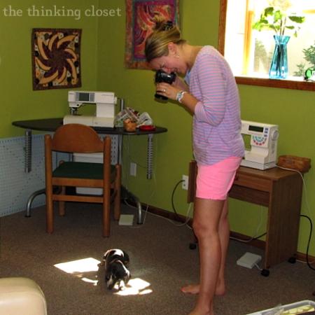 Documenting the day...including the dog!  via thinkingcloset.com