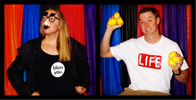 D.I.Y. Photobooth Backdrop (and it only cost $10 to make!).  Great for costume parties!  via thinkingcloset.com