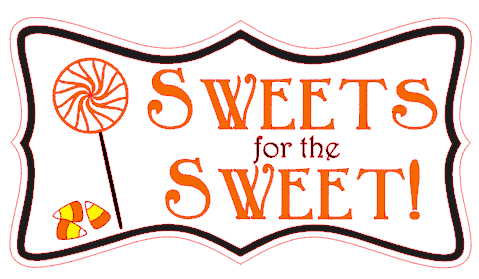 Sweets for the Sweet!  Halloween Treat Bag Label by thinkingcloset.com