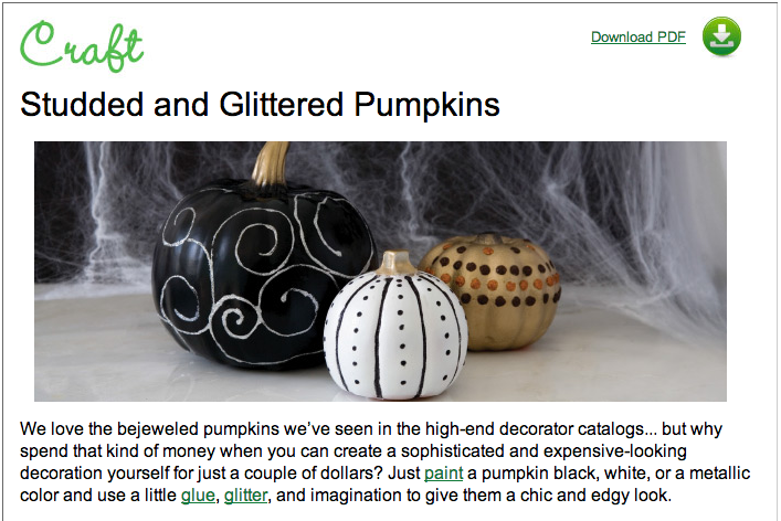 Studded and Glittered Pumpkins
