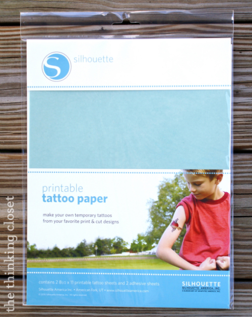 Silhouette Printable Tattoo Paper - - and you don't even need a Silhouette machine to use it! via thinkingcloset.com