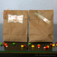 Halloween Party Treat Bags & Free Cut File