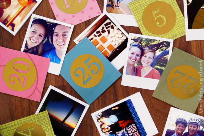 Instagram photo squares ready to be put together in an advent calendar!