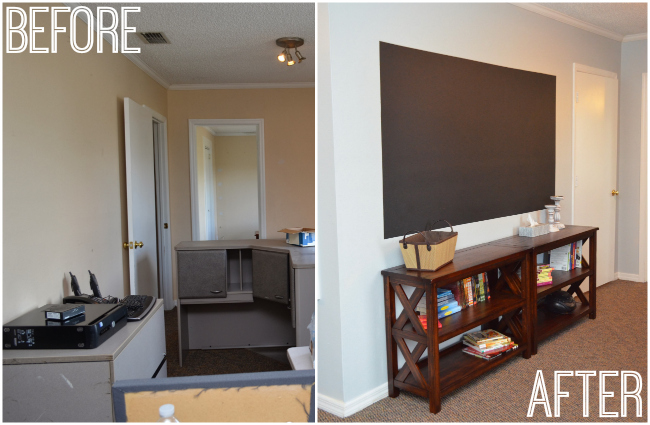 Share The Joy Before After Of Our Childrens Home Office Makeover