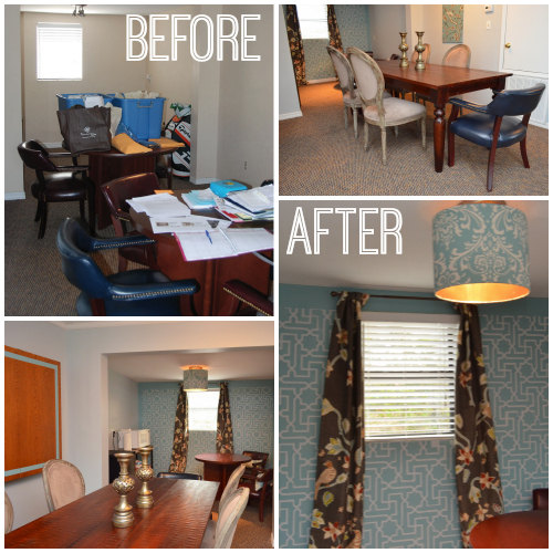 """Share the Joy"" Before & After of our Children's Home Office makeover!"