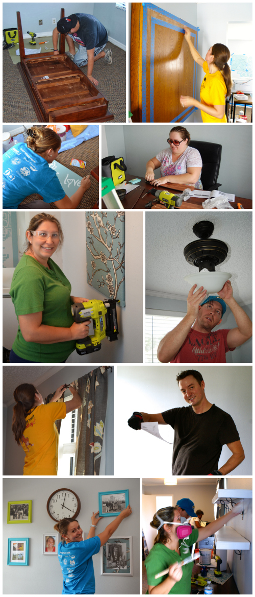 "Working hard for the ""Share the Joy"" Campaign - - helping out Central Florida Children's Home to give their office a makeover!"