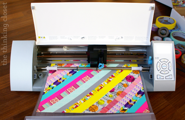 Washi side up works best for cutting with your Silhouette machine.