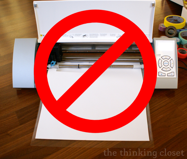 Don't put your cardstock washi-side-down on the mat.  It won't stick well enough to it!