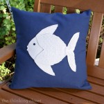 Nautical Felt Fish Pillow Tutorial by thinkingcloset.com