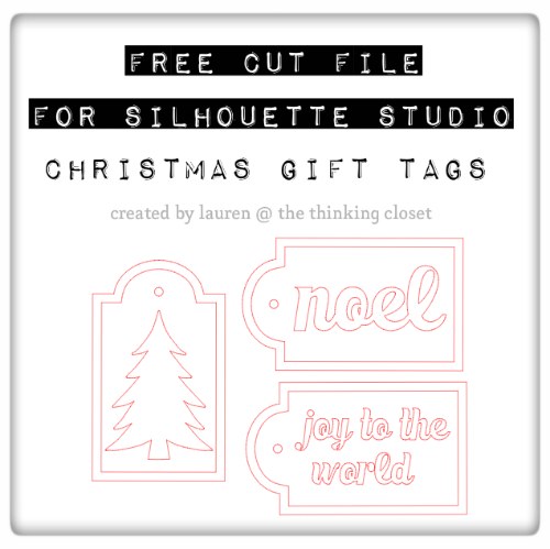 Free Cut File for Christmas Gift Tags via thinkingcloset.com