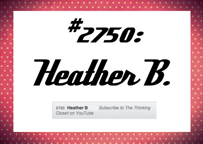 Congrats, Heather!