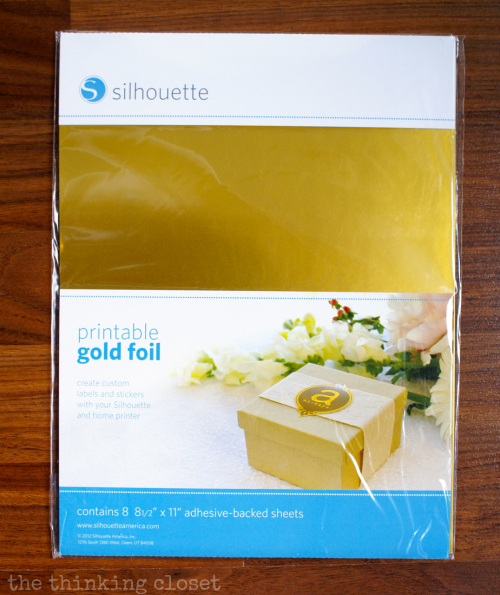 Printable Gold Foil - - specialty media by Silhouette America!