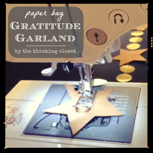 Paper Bag Gratitude Garland | Tutorial and video by thinkingcloset.com