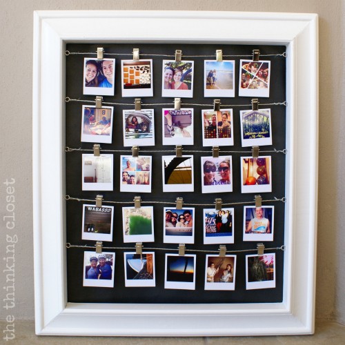 Such a fun idea to use Instagram photos as part of a Christmas Advent Calendar!