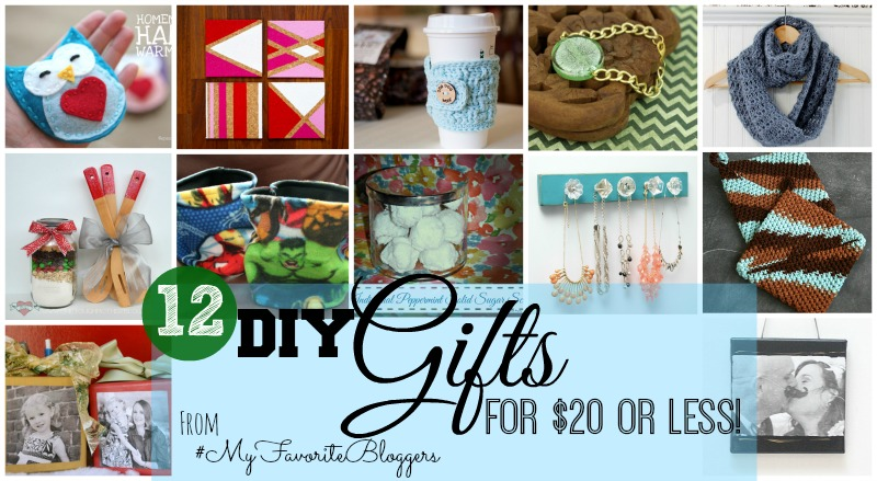 12 DIY Gifts for $20 or less!  My kind'a budget.