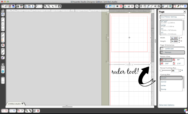 Love that ruler tool in the Designer Edition software!