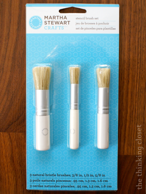 Special stenciling brushes.
