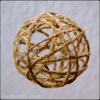 Glitter Twine Ball Ornament Tutorial