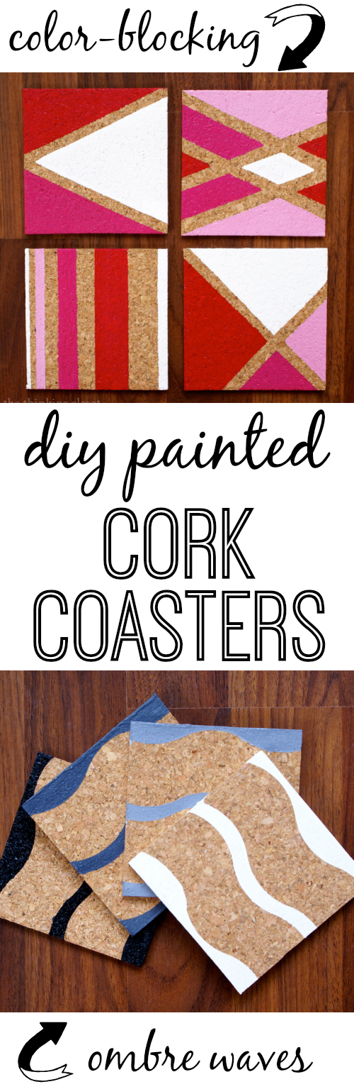Painted Cork Coasters With Myfavoritebloggers The Thinking Closet